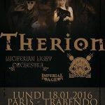 Therion + Luciferian Light Orchestra, Trabendo @ Paris,18/01/2016