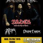 Venom.Inc + Witches + Divine Chaos + Vader, Le Metronum @ Toulouse, 29/09/2015